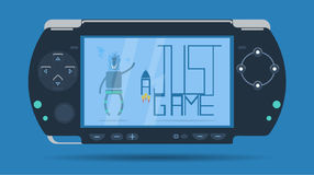 Game console on a blue background Stock Images