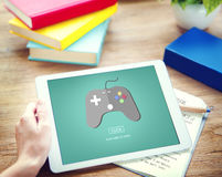 Game Console Entertainment Gadget Electronic Concept Royalty Free Stock Images