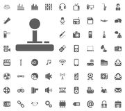 Game console icon. Media, Music and Communication vector illustration icon set. Set of universal icons. Set of 64 icons.  Stock Images