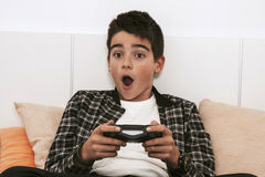 Game console playing Stock Photography