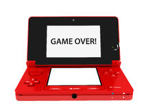 Game Console Portable Nintendo 3DS. Nintendo 3DS Red Game Console Royalty Free Stock Photos