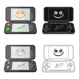 Game console single icon in cartoon,black,outline style for design.Car maintenance station vector symbol stock web. Game console single icon in cartoon,black Royalty Free Stock Photos