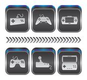Game console theme Royalty Free Stock Photos