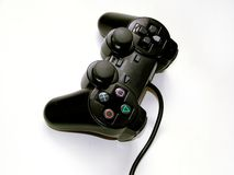 Game controler. From top view - isolated background stock photo