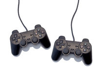 Game controller. Two game controller for sony playstation, isolated on white Stock Photography