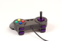 Game Controller. For computer games with buttons and a mini joystick Royalty Free Stock Photography
