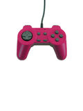 Game controller with clipping path. A pink game controller isolated over white with plenty of copy space. This file includes the clipping path Royalty Free Stock Image