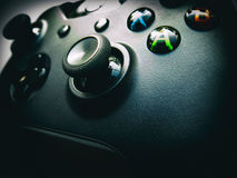 Game Controller. Close up of an Xbox game controller Royalty Free Stock Photo