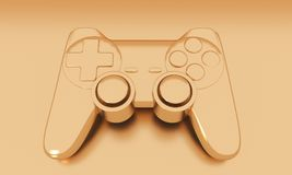 Game controller. 3d rendering Royalty Free Stock Images