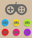 Game controller icon with color variations Stock Images