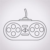Game controller icon Royalty Free Stock Photography