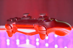 Game controller on illuminated Stock Image