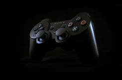 Game controller. Sony PlayStation 3 controller fade to black Royalty Free Stock Images