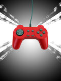 Game controller w clipping path. A red game controller with plenty of copy space.  This file includes the clipping path Royalty Free Stock Photography