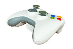 Game controller on white background Stock Images