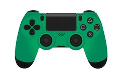 Game controllers for console isolated on white background vector illustration. Photorealism