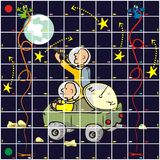 Game - cosmos. Board game for kids and adults - Subject universe Royalty Free Stock Image