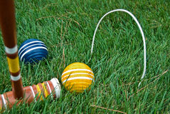 Game Of Croquet Stock Photo