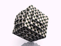 Game cube. Many game  cube with patterns Stock Photography