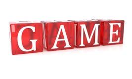 Game Cube-Text auf weißem Hintergrund vektor abbildung