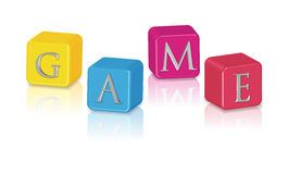 Game cubes. Illustration  on white Stock Image
