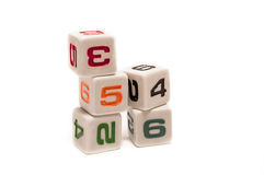 Game cubes Royalty Free Stock Photography