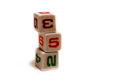 Game cubes Royalty Free Stock Photo