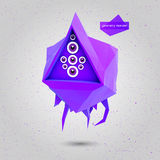 Game 3D geometric Flying Monster.Vector. Illustration Royalty Free Stock Photo