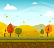 Game 2d Park Landscape Stock Image