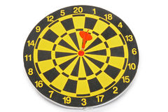 Game, dart. Game with dart isolated on white background Stock Image