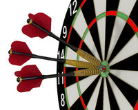 The game of darts. Hit the bull's eye Royalty Free Stock Photo