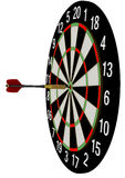 The game of darts. Hit the bull's eye Royalty Free Stock Images