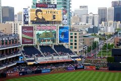 Game day at Petco park stock image