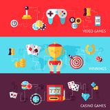 Game design banner set Royalty Free Stock Photos