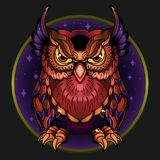 Wild owl royalty free illustration