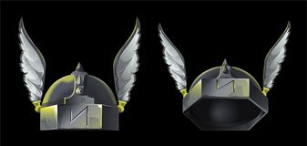 Armor helmet vector illustration