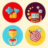 Game design set Royalty Free Stock Images