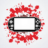 Game. Designed on splatter ink background graphic vector Royalty Free Stock Photos