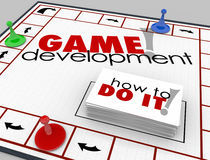 Game Development Board Game How to Learn Software App Programmin Stock Photo