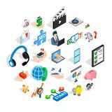 Game development icons set, isometric style. Game development icons set. Isometric set of 25 game development vector icons for web isolated on white background Stock Image