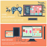 Game development and web design concept royalty free illustration