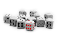 Game with dice Royalty Free Stock Photography