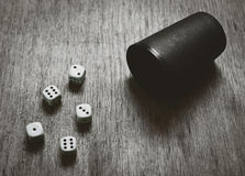 Game dice background with copyspace Royalty Free Stock Photography