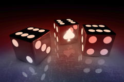 Game dice. Two standard six-sided dice with rounded corners Royalty Free Stock Images