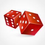 Game dices isolated on white background. Royalty Free Stock Images