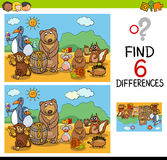 Game of differences with animals Stock Photography