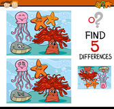 Game of differences illustration Stock Photo