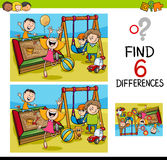 Game of differences with kids Stock Photos
