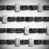 Domino background Stock Image