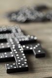 Game of domino with domino stones Stock Photos